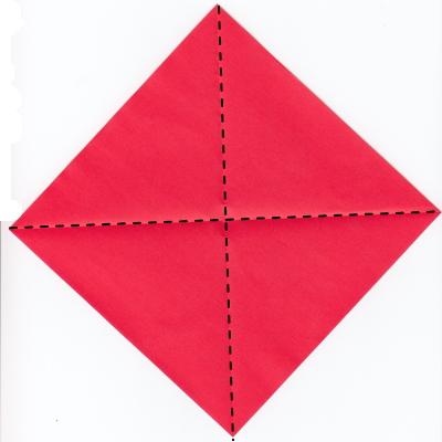 チェックハートの折り紙1