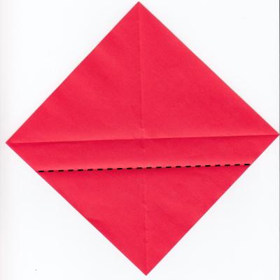 チェックハートの折り紙2