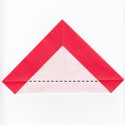 チェックハートの折り紙3