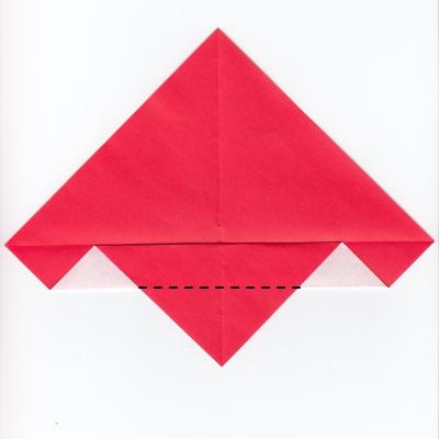 チェックハートの折り紙4