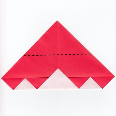 チェックハートの折り紙5