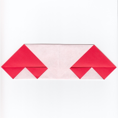 チェックハートの折り紙6
