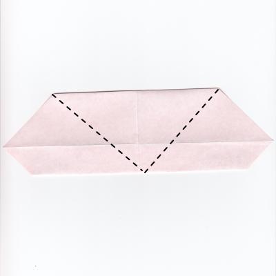 チェックハートの折り紙7