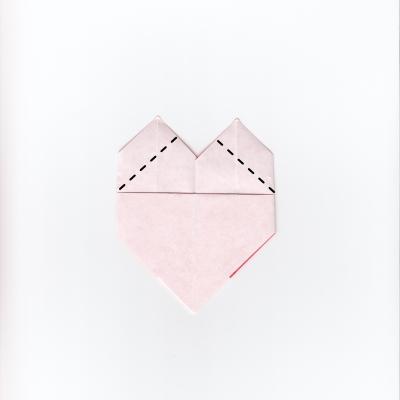 チェックハートの折り紙10