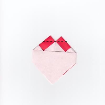 チェックハートの折り紙11
