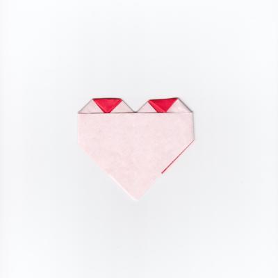 チェックハートの折り紙12