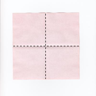 メッセージ用ハートの折り紙1