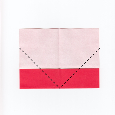 メッセージ用ハートの折り紙3