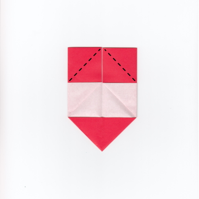 メッセージ用ハートの折り紙5