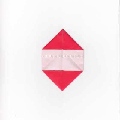 メッセージ用ハートの折り紙6