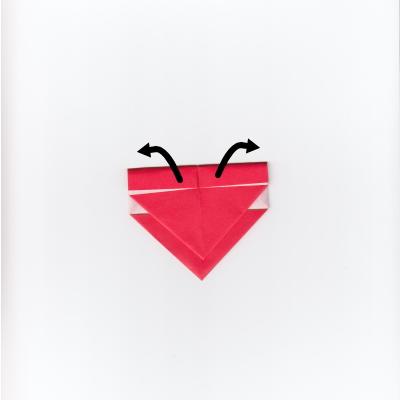 メッセージ用ハートの折り紙7