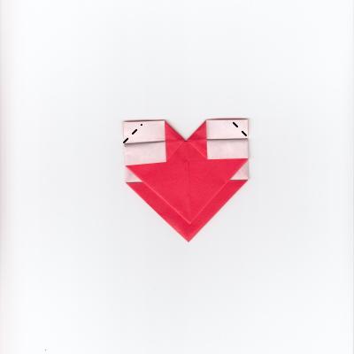 メッセージ用ハートの折り紙8