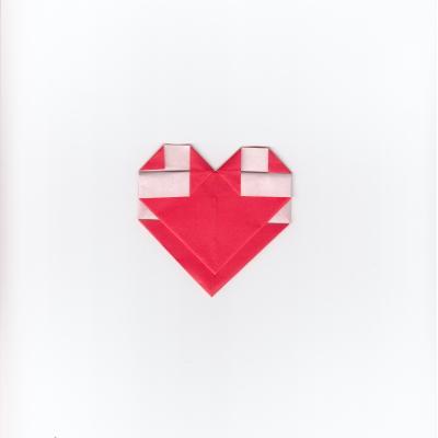 メッセージ用ハートの折り紙9