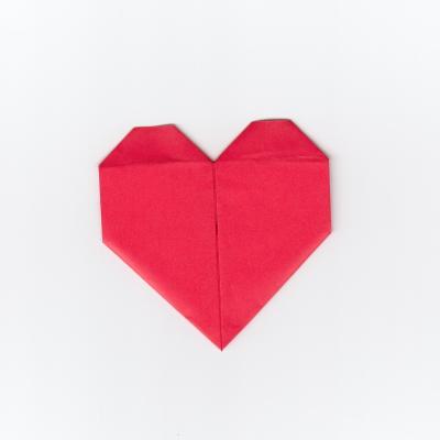 メッセージ用ハートの折り紙10