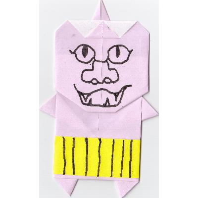 鬼の折り紙