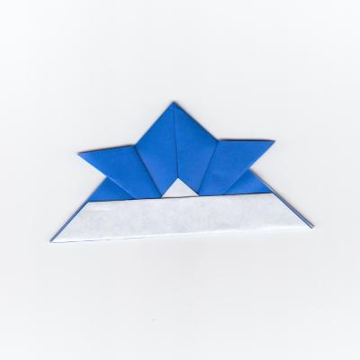 かぶとの折り紙