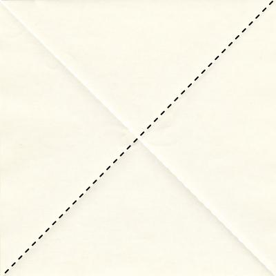 キツネの折り方1