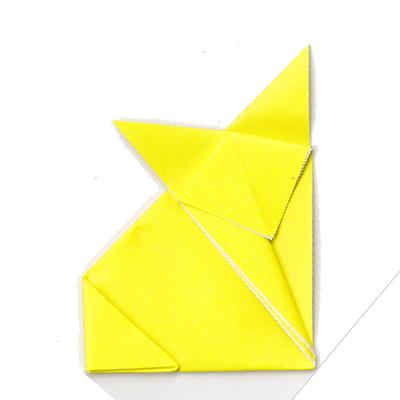 キツネの折り方12