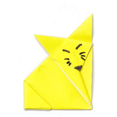 キツネの折り紙