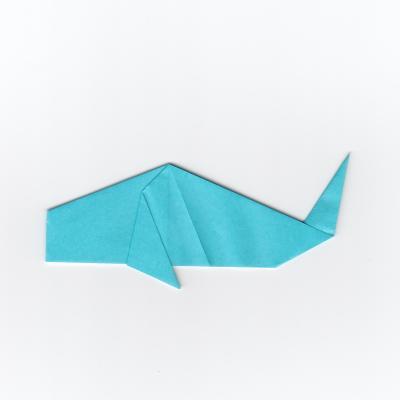 簡単な鯉の折り紙