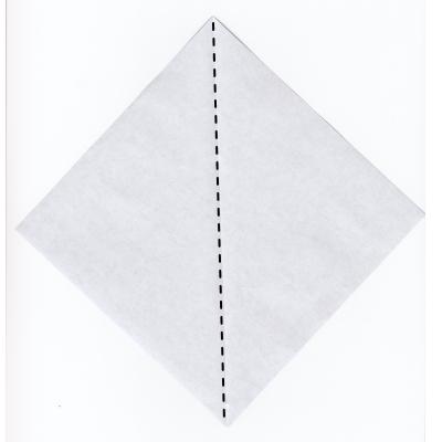 簡単な男雛の折り紙1