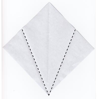 簡単な男雛の折り紙2