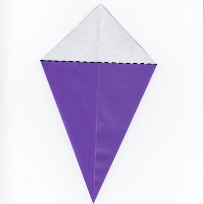 簡単な男雛の折り紙3