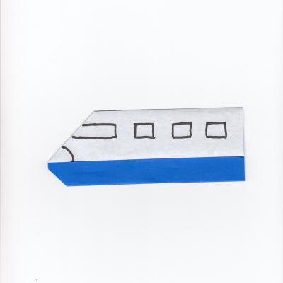 新幹線の折り紙