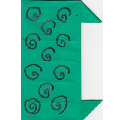 獅子舞の体の折り方12