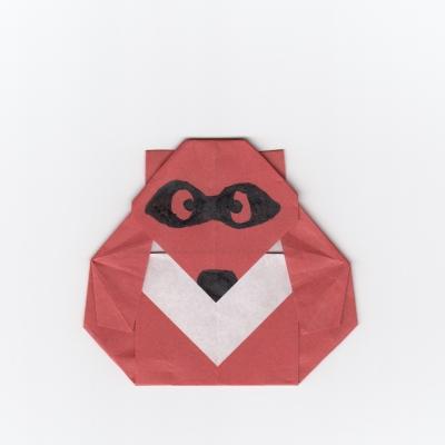 たぬきの折り紙