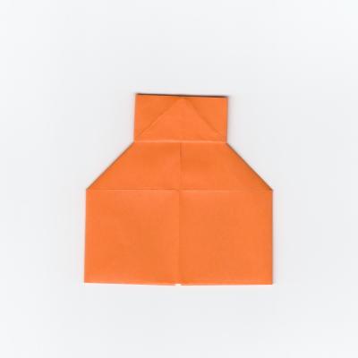 簡単な巾着の折り紙