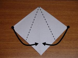 立ち姿の仙人の折り紙02