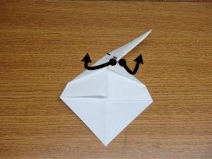 立ち姿の仙人の折り紙08