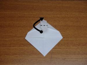 立ち姿の仙人の折り紙11