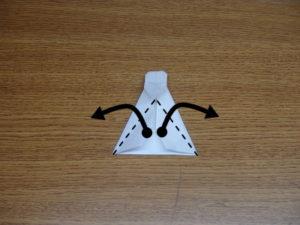 立ち姿の仙人の折り紙18