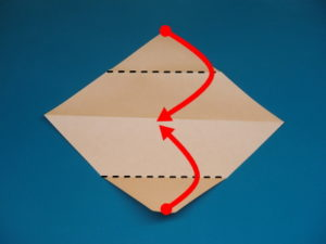 簡単な子供の蛇の折り紙02