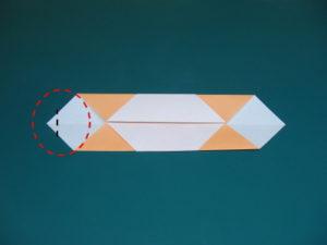 簡単な子供の蛇の折り紙05