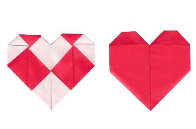 バレンタインデーの折り紙
