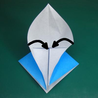 カワセミの折り紙07