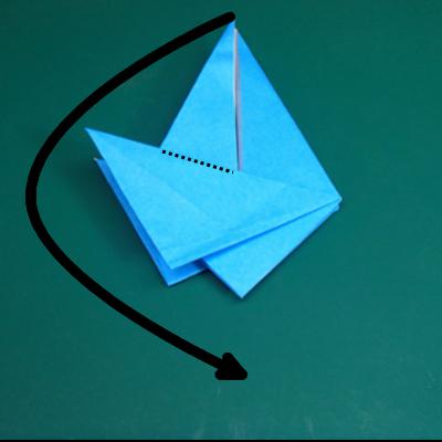 カワセミの折り紙12