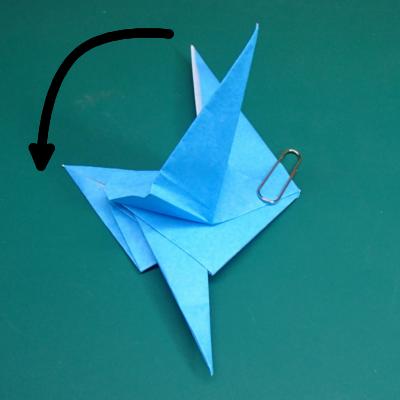 カワセミの折り紙14