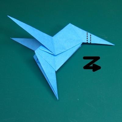 カワセミの折り紙20